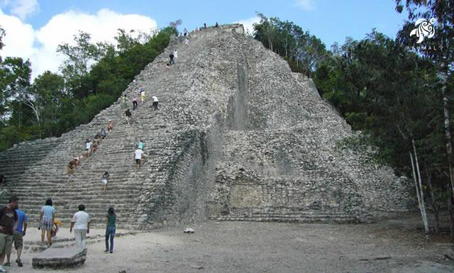 Ixmoja, the largest pyramid at Coba and can still be climbed!