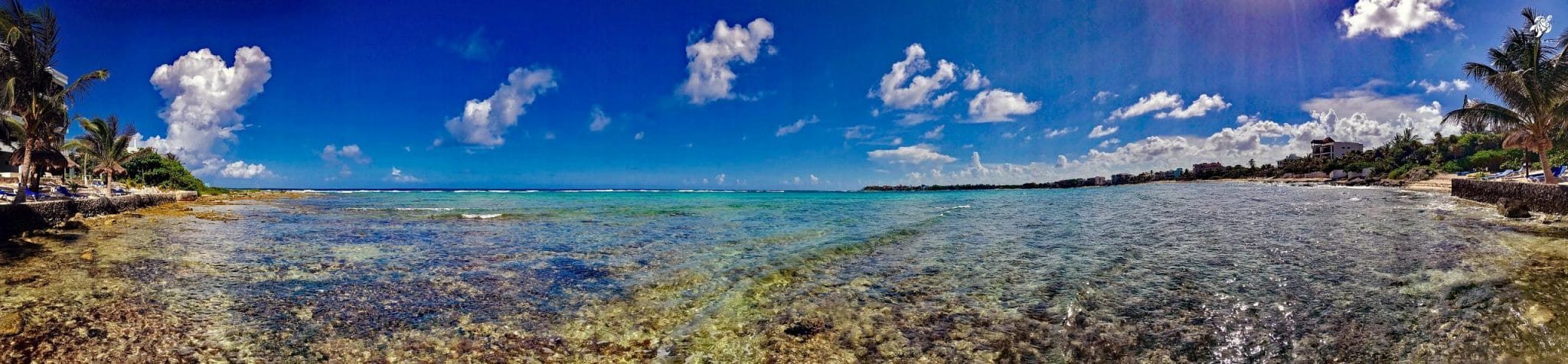 The full beauty of Yal-Ku from the cenote's edge looking towards the mouth of the Caribbean