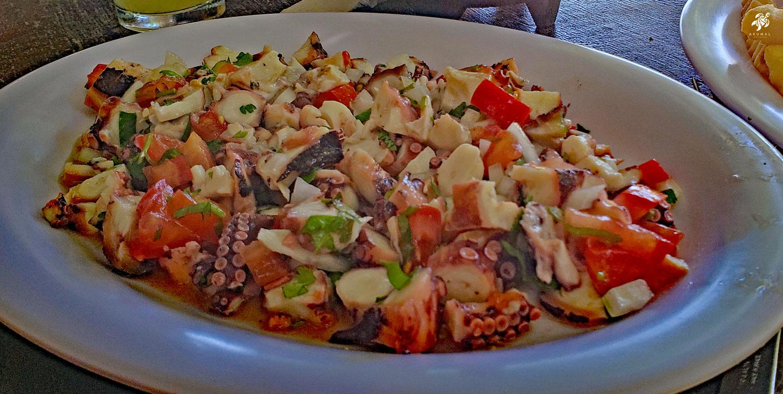 Shrimp and octopus ceviche