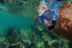 Snorkeler in Half Moon Bay