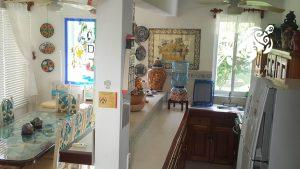 Villa Lijeson, La Sirena 15: A combination shot of our galley kitchen and dining area