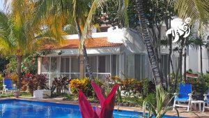 Villa Lijeson, La Sirena 15: View of villa in La Sirena's tropical gardens