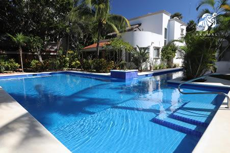 Our gorgeous pool showing the large sunning ledge (kiddie pool), laplane and fountain