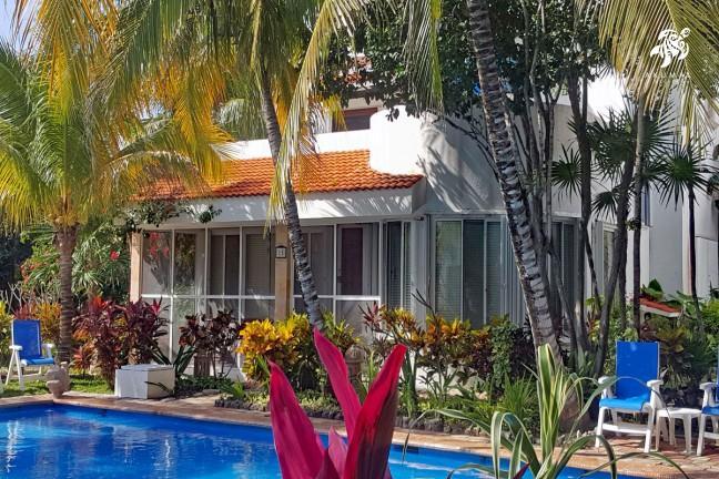 Villa Lijeson, La Sirena 15: The view of the villa from the pool