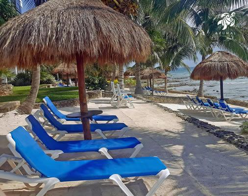 Serenity is relaxing on our private beach loungers and watching our bay