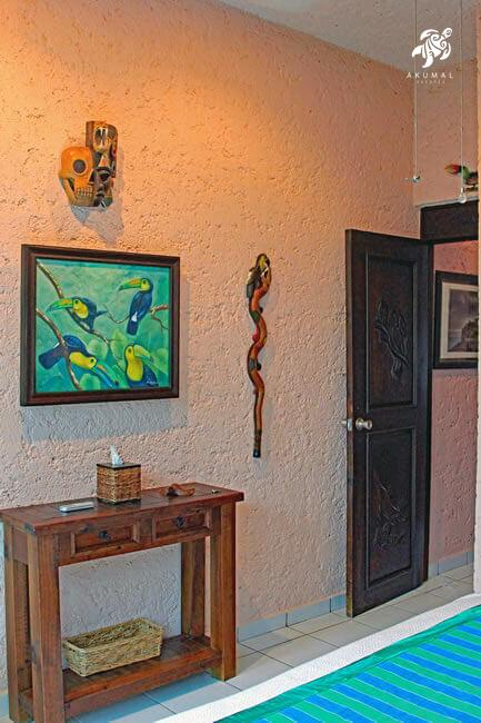Cen Balam, La Sirena #5, The 2nd Bedroom's Artwork Includes Original Paintings and Carved Staffs