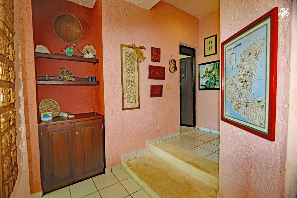 Cen Balam, La Sirena #5, The hall leading the bedrooms and bathrooms has a map depicting the Mayan cities...Amazing