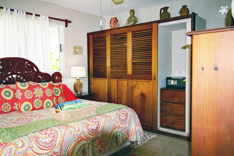 Villa Jardin, La Sirena #16, the downstairs king bedroom has custom built-in closet and a large safe