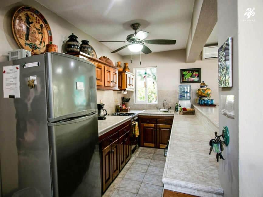 Villa Jardin, La Sirena #16, the large well-stocked galley kitchen with full sized appliances